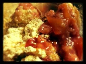 Kat's Mango Raspberry Dump Cake