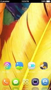 Yellow Feather Theme CLauncher screenshot 2