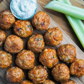 Keto Buffalo Chicken Meatballs.