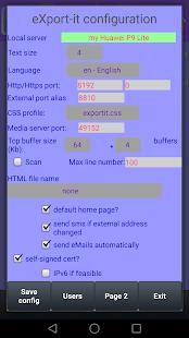 eXport-it UPnP Client/Server - náhled