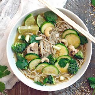 Easy Green Buckwheat Soba Noodle Soup.