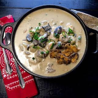 Creamy Cajun Potato and Shrimp Soup.