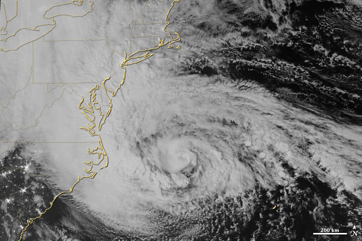 Photo: Image of Hurricane Sandy taken by VIIRS