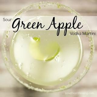Sour Green Apple Vodka Martini.