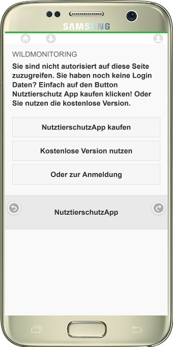 AppWildmelder- screenshot