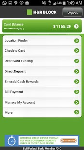 Emerald Card - H&R Block- screenshot thumbnail