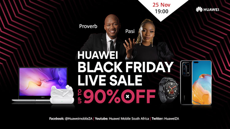 Huawei Black Friday Live Sale.