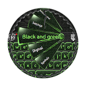 Black and green GO Keyboard