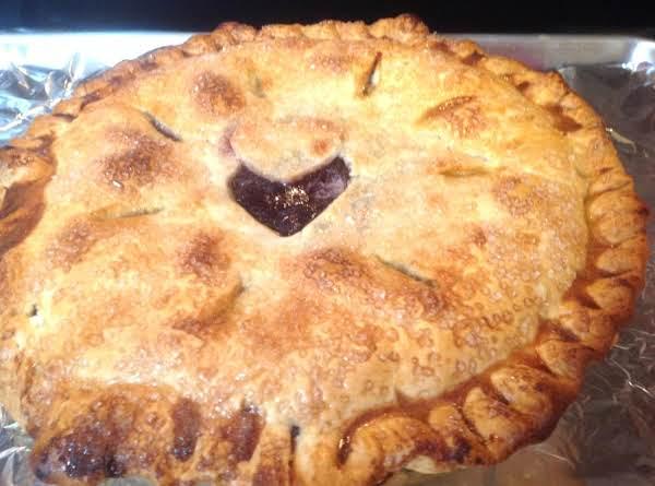Cran-blueberry I Love You Pie