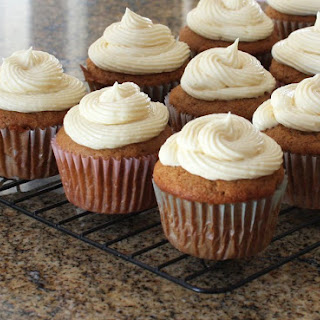 Apple Butter Cupcakes With Fluffy Cream Cheese Frosting.