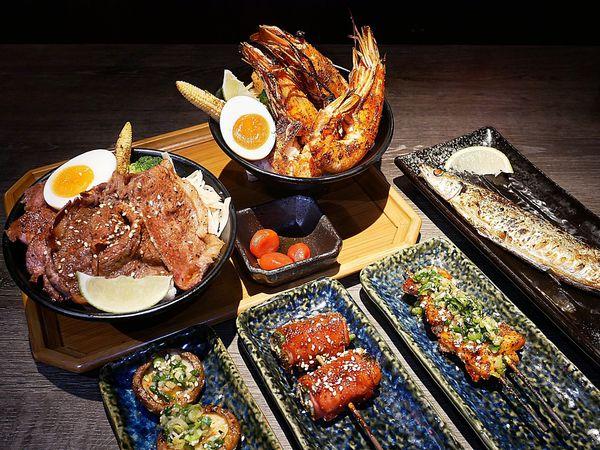 大河屋燒肉丼串燒 - 台北車站美食,超豐盛丼飯搭配各種日式串燒,IG收藏度超高美食看過來