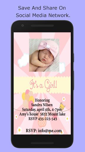 Baby Shower Invitation Maker screenshot 6