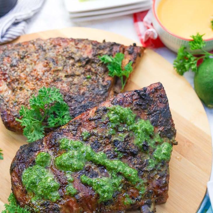 Cuban Mojo Marinated Pork Ribs + Chimichurri Recipe