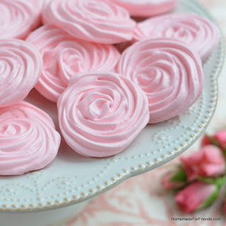 Raspberry Rose Meringues