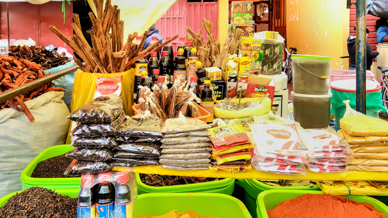 peruvian+mercado+spices+cuzco+peru+latin+america