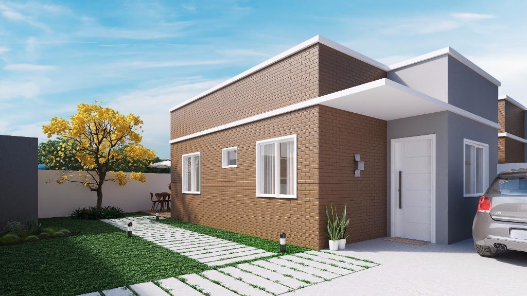 Casa com entrada de frente para a rua