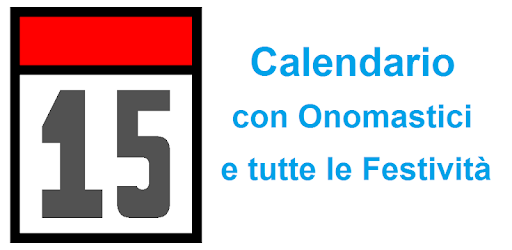 Calendario Con Onomastico 2019.Calendario Con Onomastici Apps On Google Play