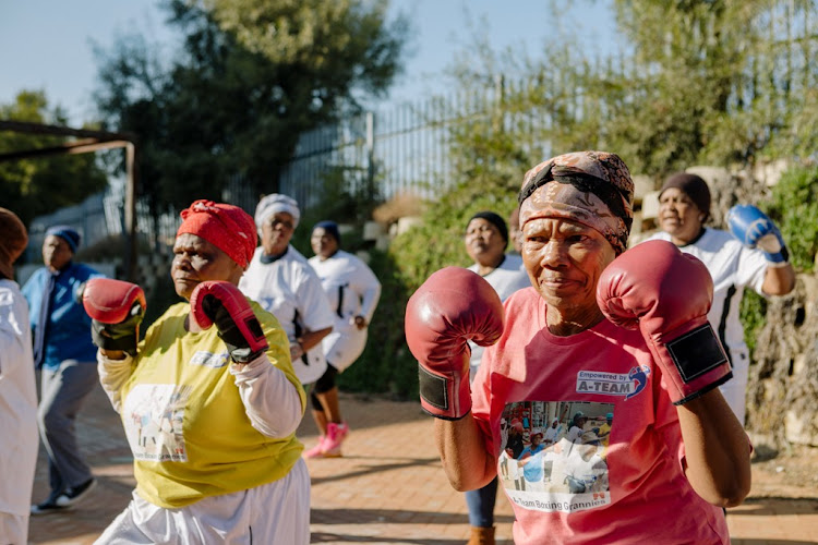 For just R250 per person, tourists can train with the Cosmo City Boxing Grannies, as part of an Airbnb experience.