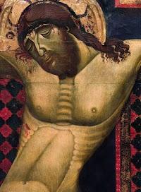 Grande croce del Maestro di San Francesco, Chiesa di San Francesco Arezzo (particolare del Cristo, Christus patiens)