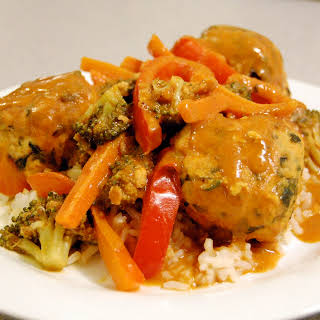 Indian Meatballs w/ Curried Vegetables.