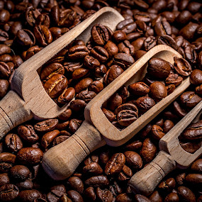 Coffee break 2 by Ovidiu Sova - Food & Drink Ingredients ( spoons, caffeine, coffee beans, drink, brown, roasted,  )