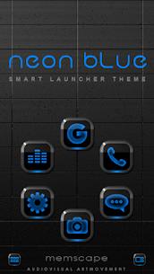NEON BLUE Smart Launcher Theme 2.30 1