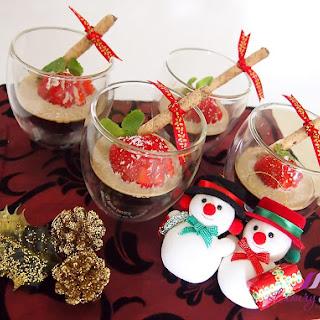 Christmas Coffee Jelly in Bailey's Irish Cream