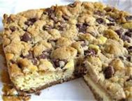 Chocolate Chip Cream Cheese Bars Recipe