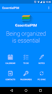 EssentialPIM- screenshot thumbnail