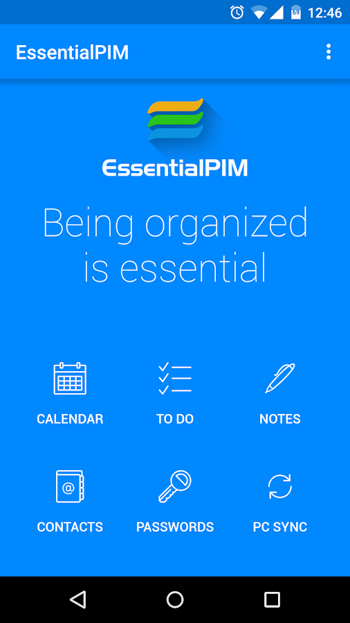 EssentialPIM- screenshot