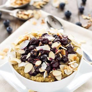 Roasted Blueberry Quinoa Breakfast Bowls