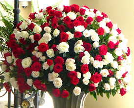 Photo: One of the rose arrangements inside