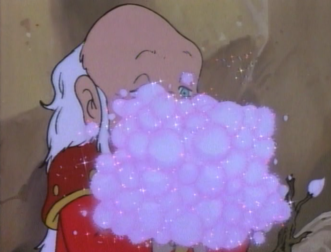 Dungeon Master turns a flower into magic