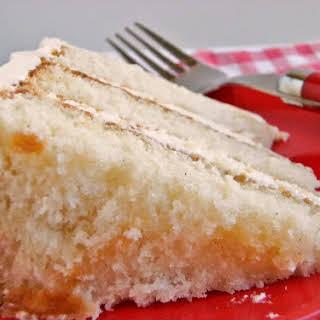 Vanilla Bean Buttermilk Cake with Amaretto Buttercream.