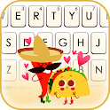 Chili Taco Mexic Keyboard Background icon