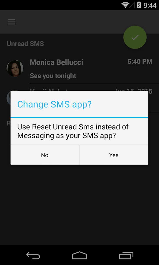 Reset Unread Sms - screenshot