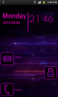 Neon Pink Golocker Theme screenshot