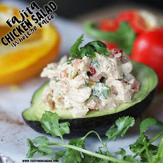 Fajita Chicken Salad {Paleo, Whole30 Compliant}.