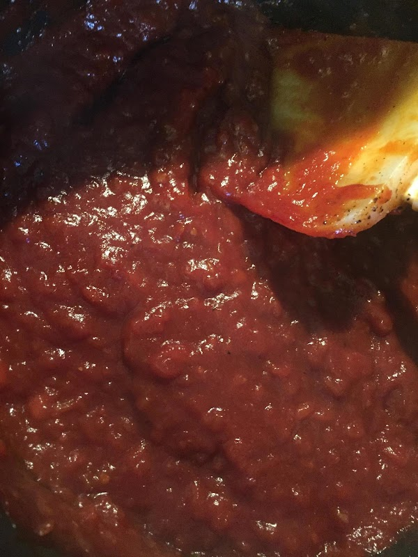 Stir occasionally and cook over medium heat for about 3o minutes.  Add paste....