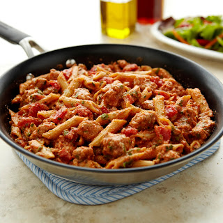 Skillet Ziti with Ground Pork.