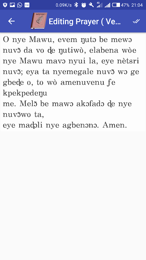 Ewe Catholic Hymnal (Dziƒomɔ)- screenshot