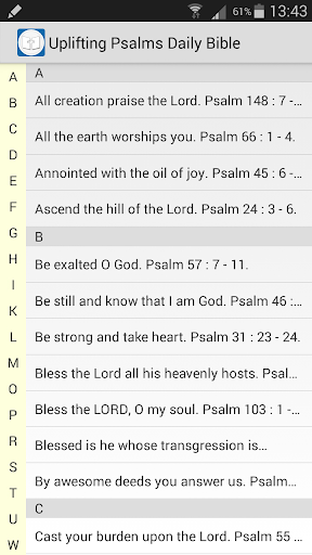 Uplifting Psalms Daily Bible