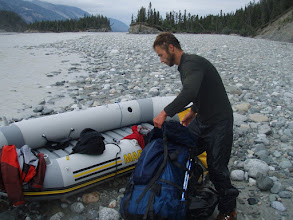 Photo: Cold and wet after our raft flip over on 6th km on Chitina river. Water temperature is 1 degrees.