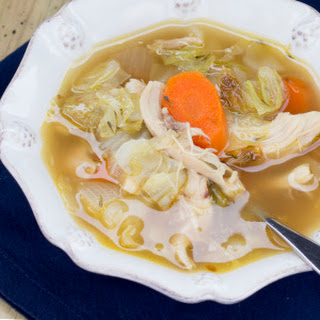 Roasted Chicken and Vegetable Soup.