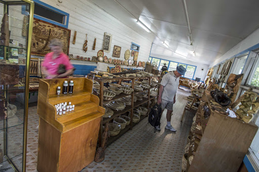 Tonga-basket-shop.jpg - Tonga is known for quality baskets woven locally.