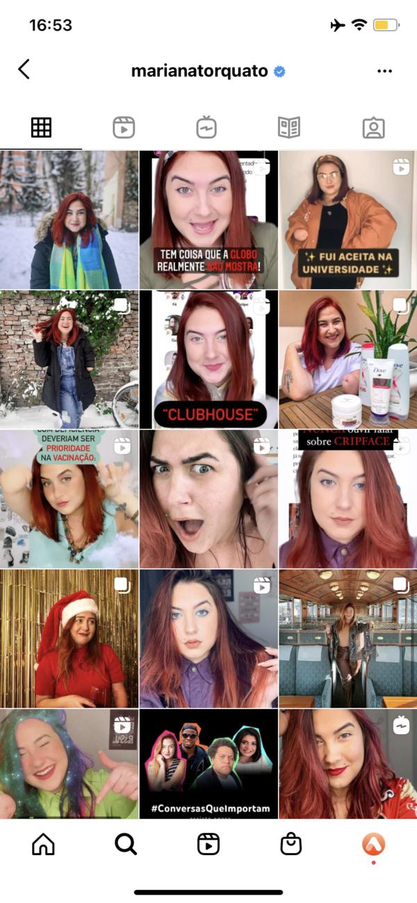 print do feed do instagram do perfil da Mariana Torquato