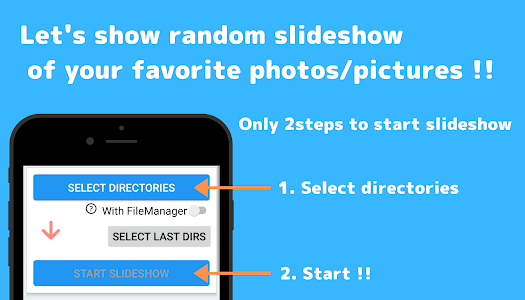Random Slideshow Random Photopicture Viewer 90 Adfree