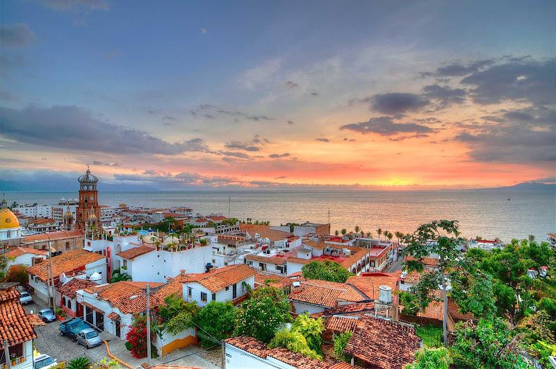 A view of Bandera Bay in Puerto Vallarta, Mexico.