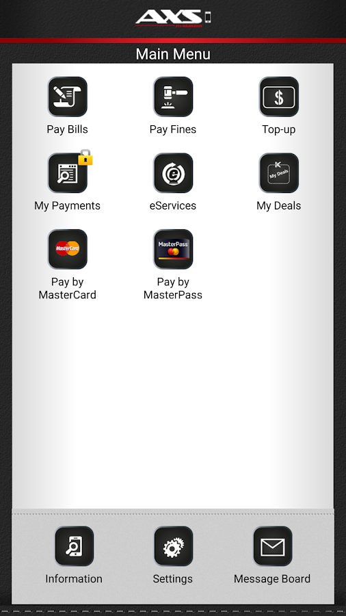 AXS Payment- screenshot