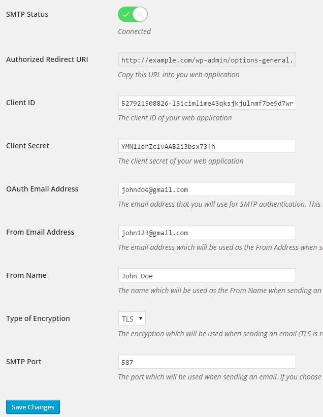 Gmail SMTP 플러그인